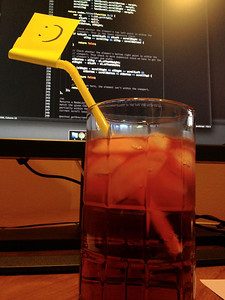 Felicity made me a very smug Italian soda to celebrate my first SmugMug production code.