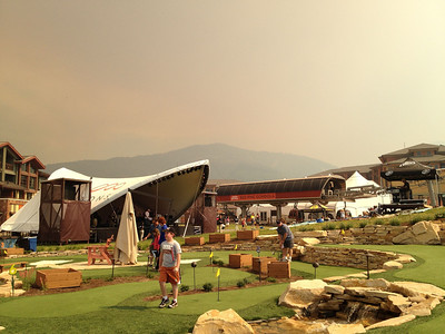 Sky full of smoke and ash from the Quail fire 19 miles southwest of Canyons Resort in Utah.